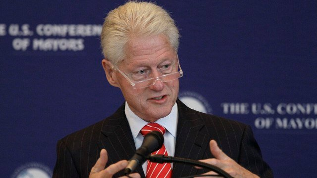 Former President Bill Clinton is scheduled to visit the University of Connecticut campus. (AP photo)