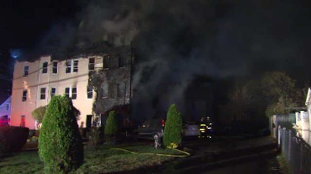 Two children died in this apartment fire, according to fire officials. (CBS photo)