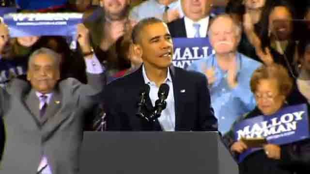 President Obama speaking in Bridgeport (WFSB file photo)