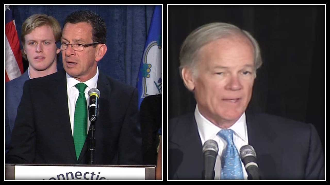 Gov. Dannel Malloy claimed victory overnight while Tom Foley said he 'probably lost' the race. (WFSB photos)