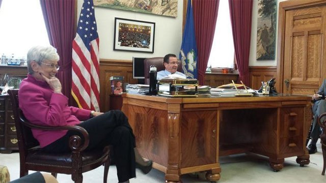 Lt. Gov. Nancy Wyman and Gov. Dannel Malloy. (WFSB file photo)