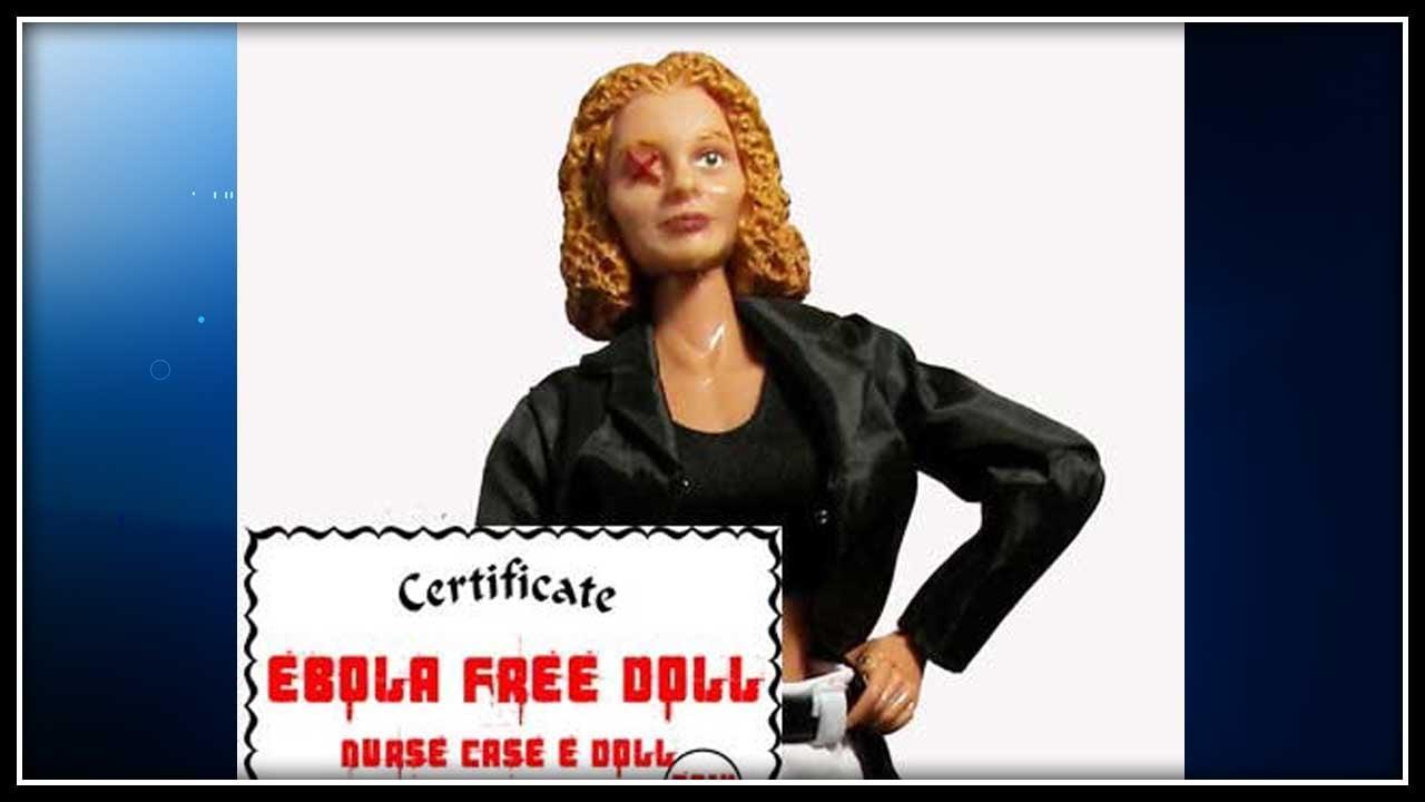 """""""The Case-E Ebola Nurse"""" doll. (HeroBuilders.com photo)"""