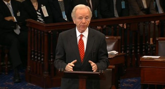 File photo of Former Connecticut Senator Joe Lieberman