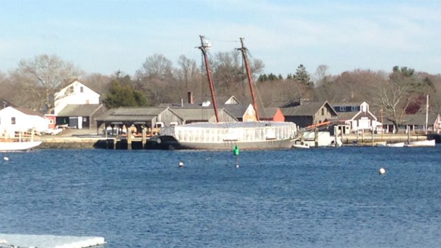 The Amistad when it was docked at Mystic Seaport. (WFSB file photo)