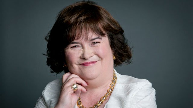 In this June 24, 2014 photo shows Scottish singer Susan Boyle poses for a portrait in promotion of her upcoming US tour in New York. Singing sensation Susan Boyle has her first boyfriend at age 53 — a Connecticut doctor.  Photo by Amy Sussman/Invision/AP