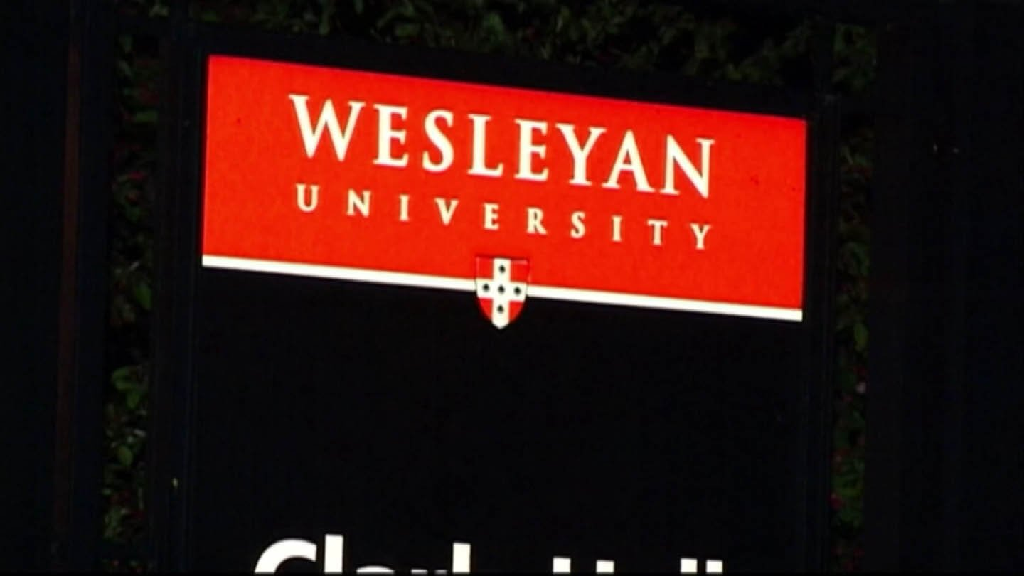 Break-in was reported at Wesleyan University. (WFSB photo)