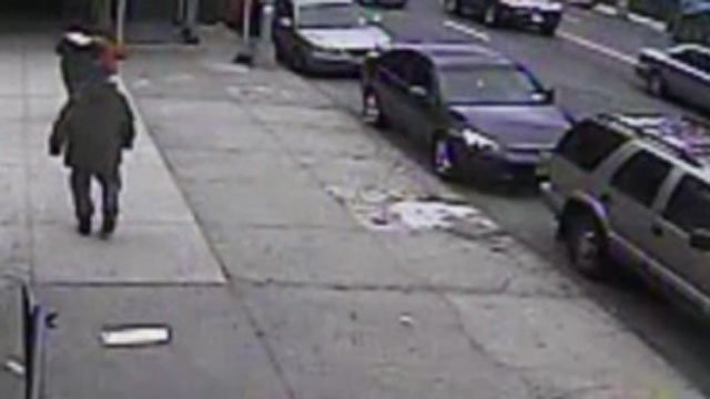 Cameras caught the violent robbery of a New York mom and her baby.