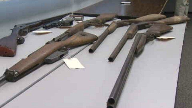 104 weapons collected on Saturday