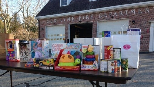 Old Lyme Fire Department hosts Toys for Tots drive