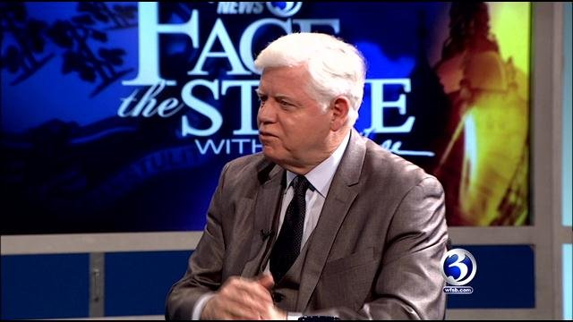 U.S. Rep. John Larson, pictured at a taping of Face the State, fights for gun control. (WFSB file)