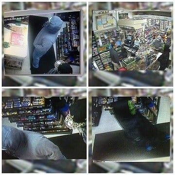 Surveillance from A-1 gas station robbery