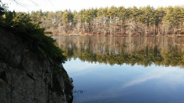 Crescent Lake in Meriden's Giuffrida Park