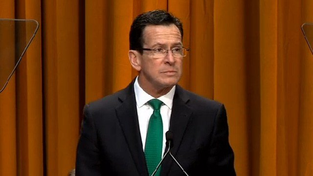 Gov. Dannel Malloy was sworn into office for his second term Wednesday afternoon. (WFSB photo)