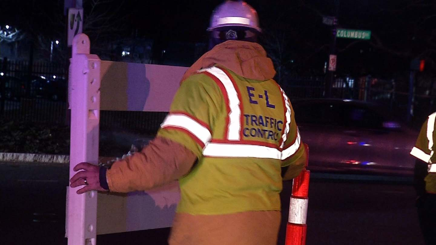 Workers in Hartford had to brave this week's cold temperatures. (WFSB photo)