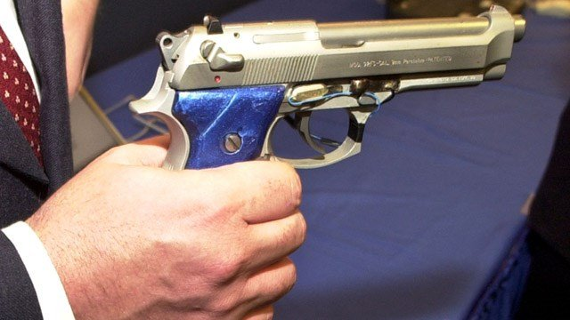 A prototype of a smart gun with grip recognition. (AP photo)