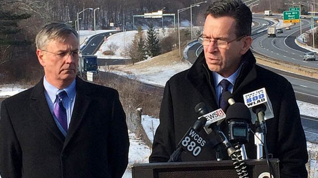 Gov. Dannel Malloy said in Jan. that widening I-84 in Danbury is crucial to economic growth. (Governor's office photo)