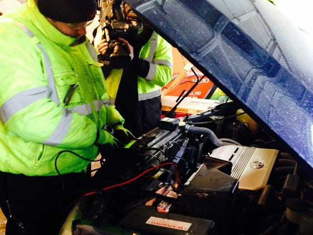 AAA crews were expected to report to many dead batteries on Tuesday morning (WFSB)
