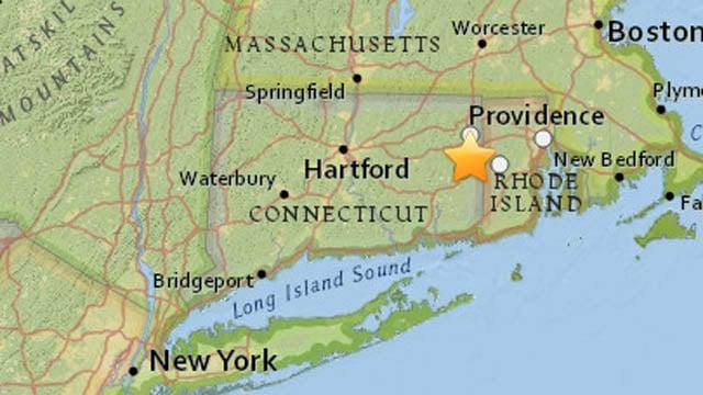 A map of the quake's epicenter. (earthquake.usgs.gov photo)