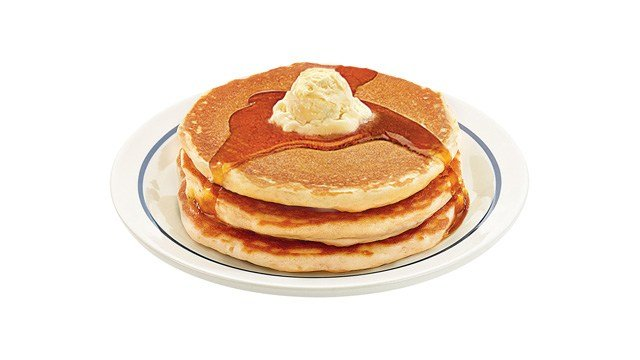 A short stack of buttermilk pancakes at IHOP. (AP photo)