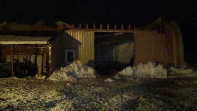 Horse barn roof in Lebanon collapsed on Wednesday