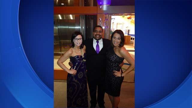 WFSB reporters Jill Konopka, Jason Frazer and Courtney Zeiller supported the annual Brain Ball on Saturday (WFSB)