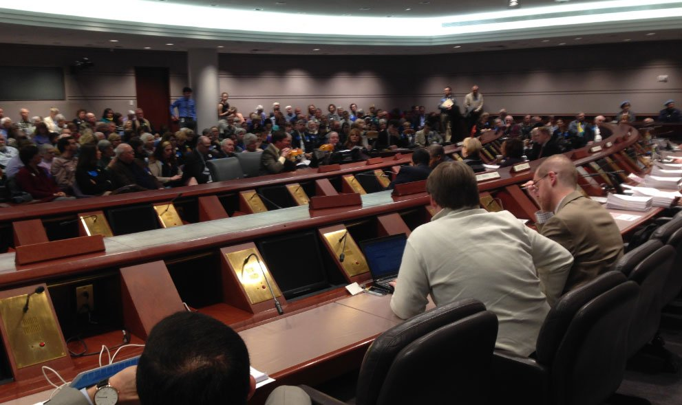 About 200 people were expected to speak at the hearing on Wednesday. (WFSB)