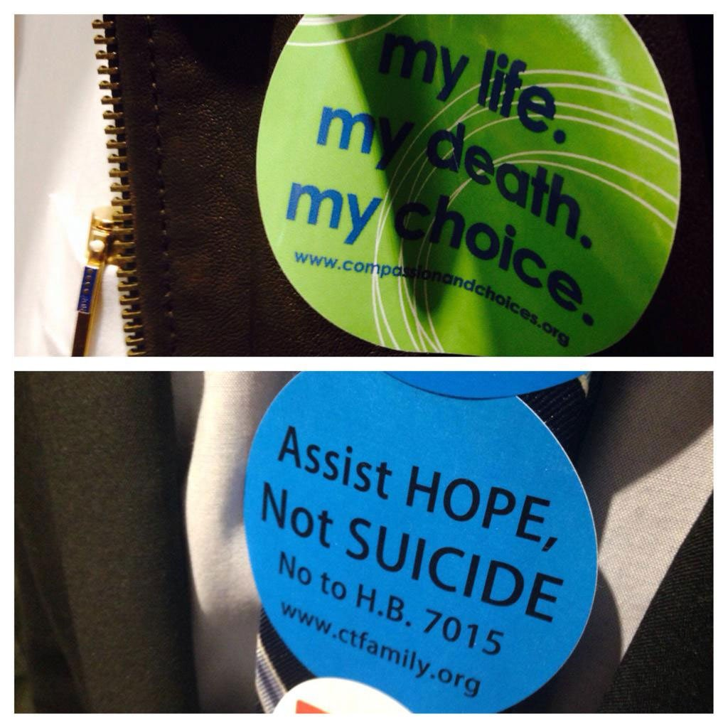 People were for and against assisted suicide at the hearing. (WFSB)