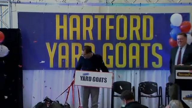 Yard Goats is the name of the new Hartford baseball team. (WFSB)