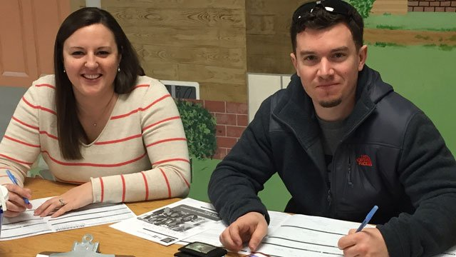 People came to a bone marrow drive for Jim Taravella on Good Friday.