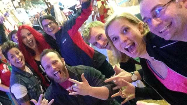A few of the 'Amazing Race' hopefuls at Mohegan Sun. (WFSB photo)