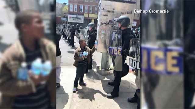 Signs of goodwill captured on streets of Baltimore (CNN)
