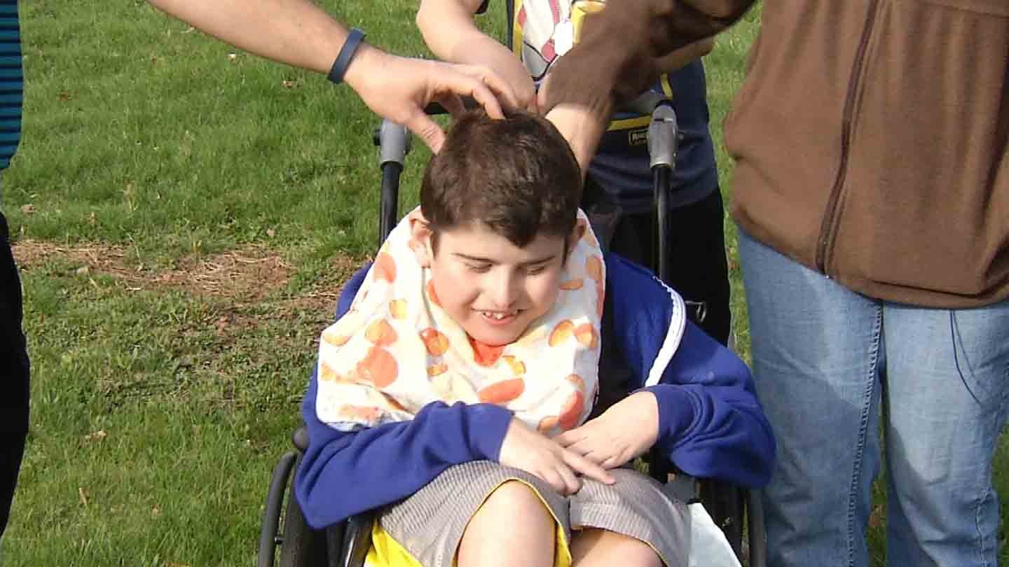Harrison Camarro's family is hoping to win a new wheelchair-accessible van. (WFSB photo)