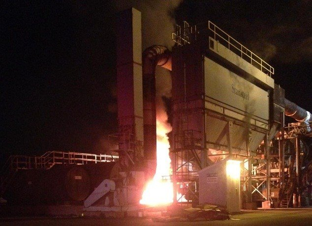 Crews battle overnight fire at Groton asphalt plan (iwitness)