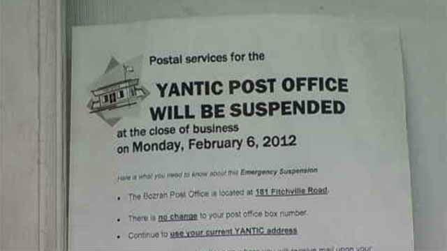 Regulators criticize closing of Yantic Post Office (WFSB)