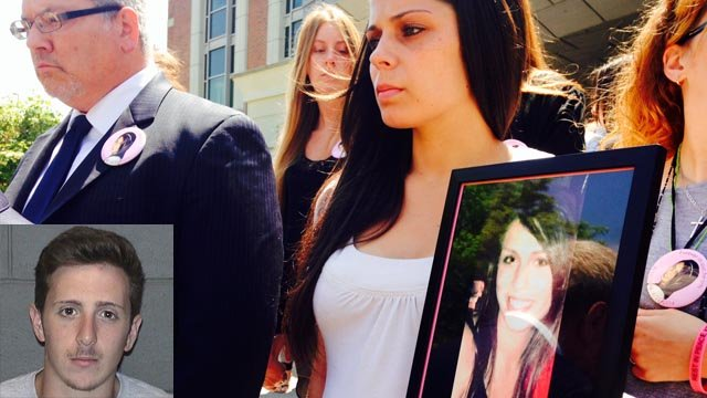 Eric Morelli pleaded guilty to manslaughter in front of Kristen Milano's family. (Southington police/WFSB photos)