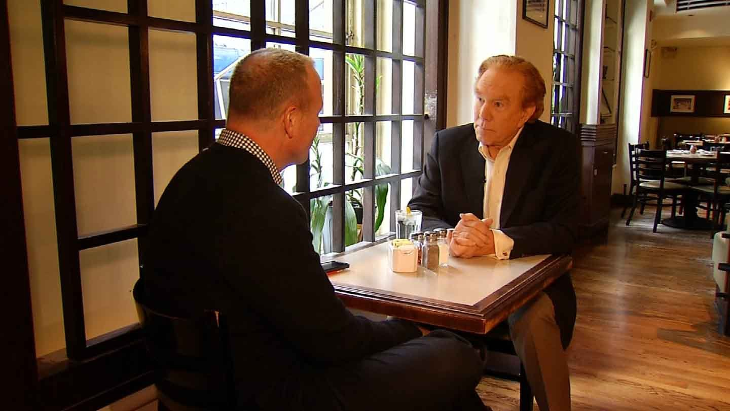 Announcer Alan Kalter speaks to Scot Haney about The Late Show with David Letterman. (WFSB photo)