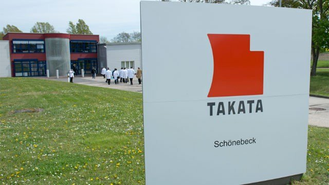 Takata Ignition Systems in Schoenebeck, Germany. (AP Photo/Jens Meyer)