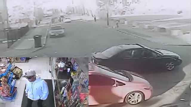 Suspect allegedly involved in pastor shooting. Black vehicle belongs to suspect. (Hartford police)