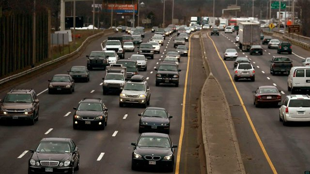 I-95 in New Haven. (AP photo)