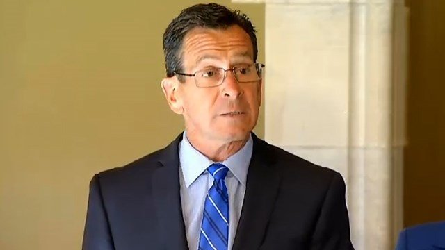 Gov. Dannel Malloy released a statement on Monday about the unemployment rate. (WFSB photo)