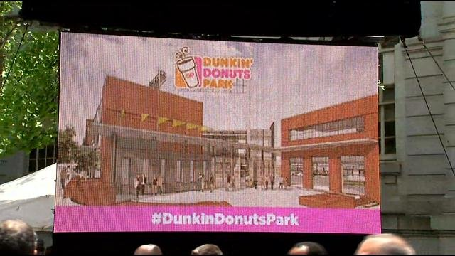 Rendering of the new Dunkin' Donuts Park (WFSB)