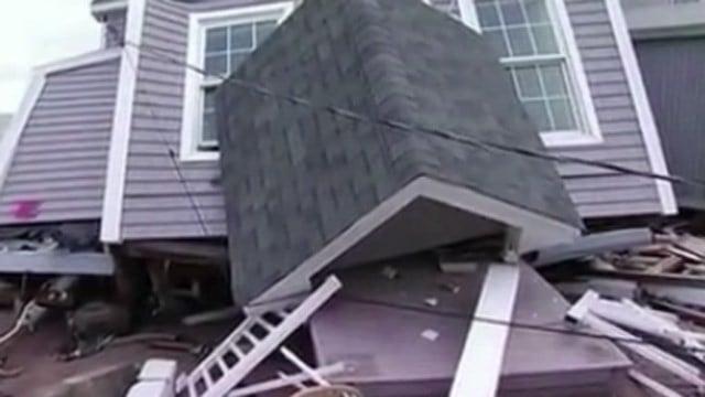 Super storm Sandy slammed homes along the shoreline. (WFSB file photo)