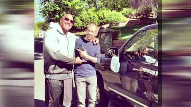 """The Rock"" sideswipes Massachusetts man's car (CNN)"