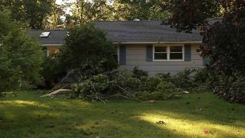 Damage in North Haven. (WFSB photo)