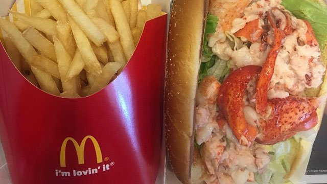 The McDonald's lobster roll. (mcd_ctwma Instagram photo)