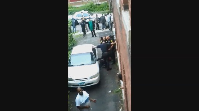 Hartford police are investigating after a two-minute video from a weekend arrest was captured on camera and shared more than 100,000 times on social media. (submitted)