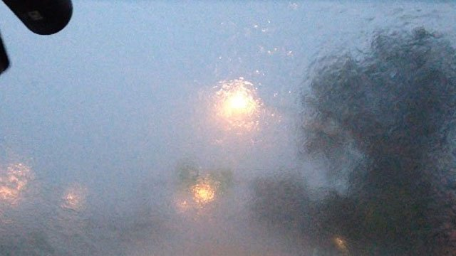Drivers dealt with deluges of rain Wednesday morning. (WFSB photo)