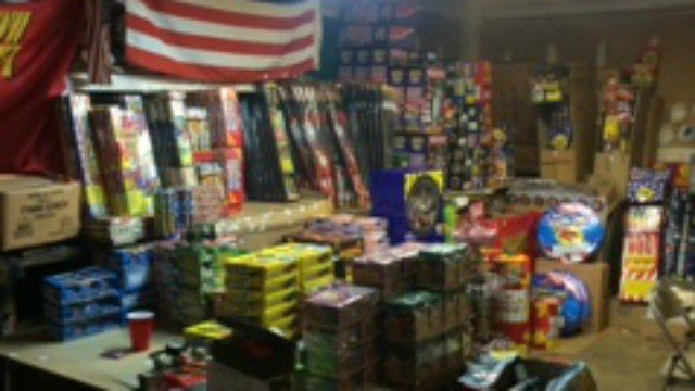 State police released this photo of the $250,000 worth of illegal fireworks seized in Danbury