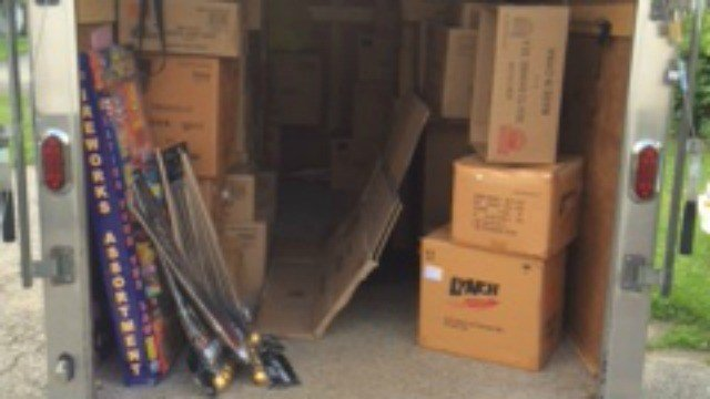 $250,000 worth of illegal fireworks were seized from a storage barn in Danbury by state police.