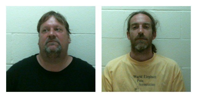 Eddie Herger, left, and Matthew Voog were arrested in connection the stabbing of Voog's brother. (Clinton Police Department)